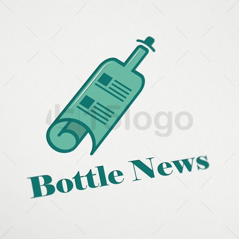 Bottle News Logo Template | 15LOGO