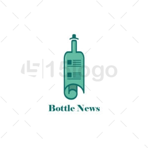 bottle news logo template
