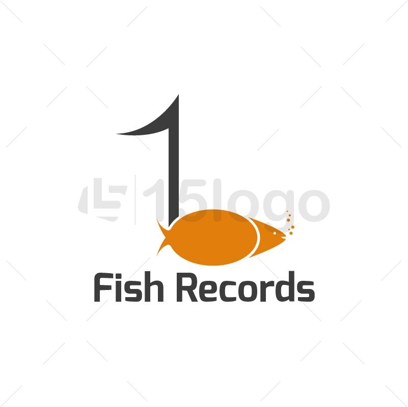 Fish Record Logo Design