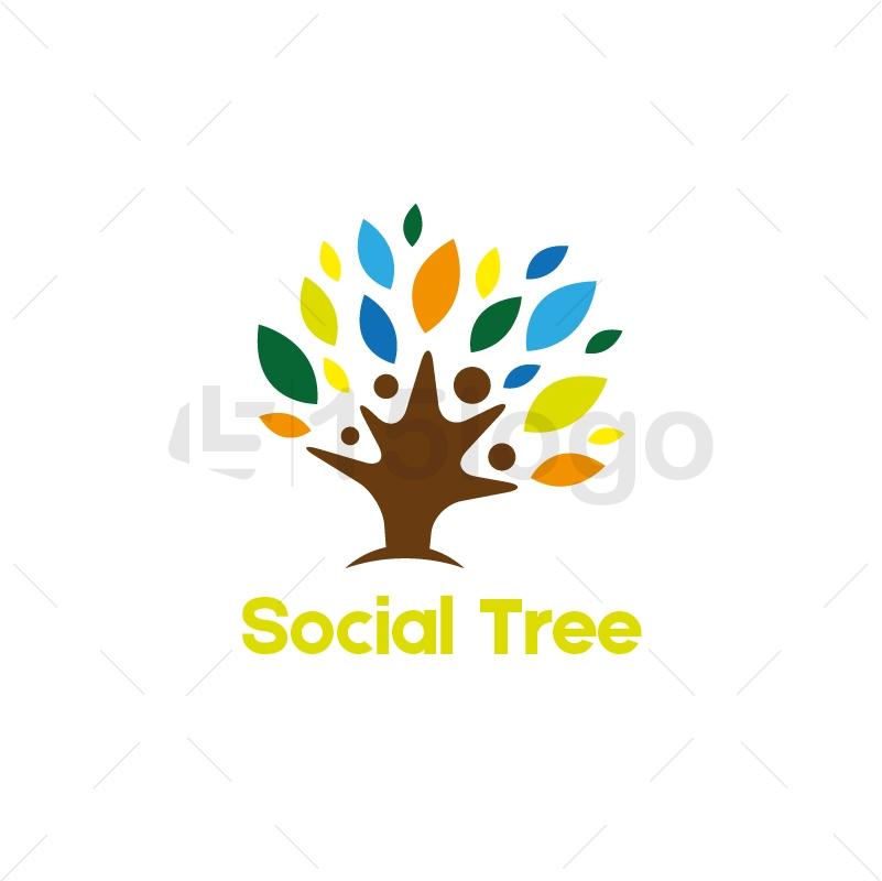 Social Tree Logo Template