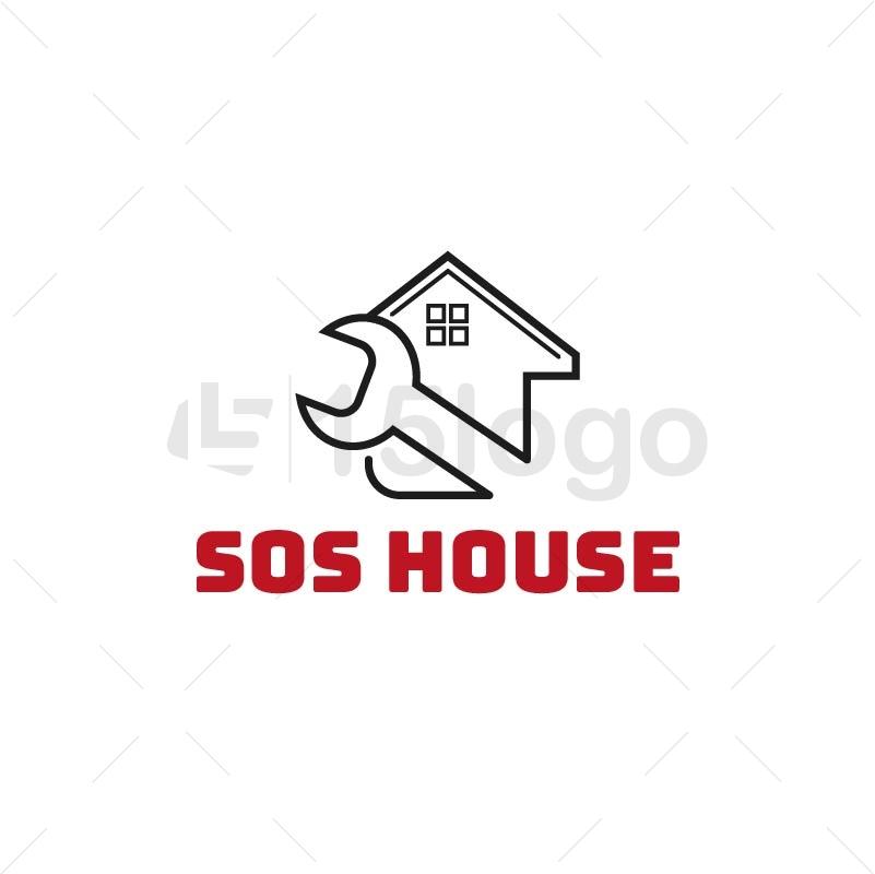 SOS House Creative Logo