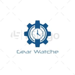 gear watche logo template