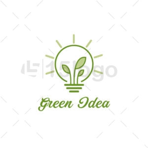 green idea creative logo