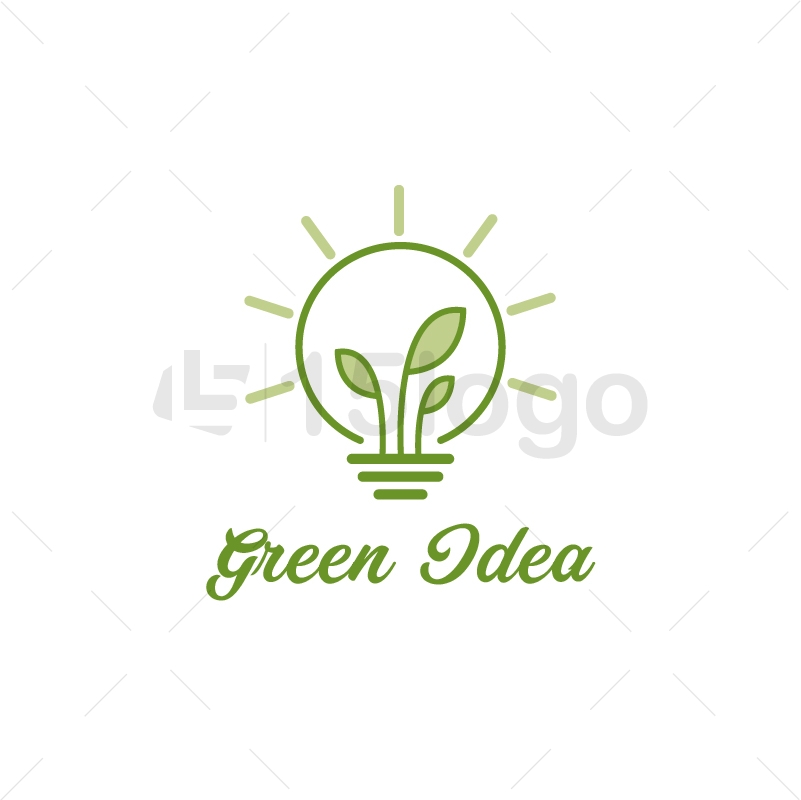 Green Idea Creative Logo