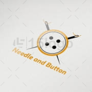 needle and button logo