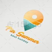 pin summer logo design