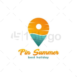 pin summer logo design
