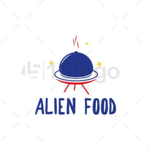 alien food creative logo