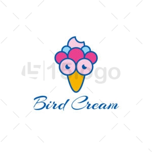 bird cream logo template