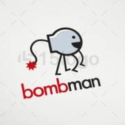 bomb man logo template
