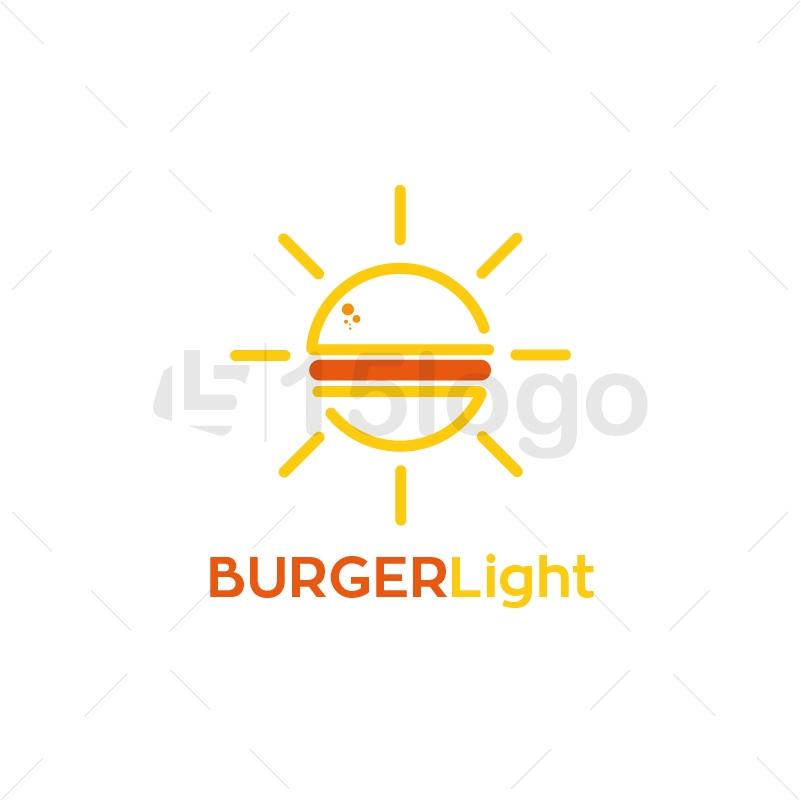Burger Light Creative Logo