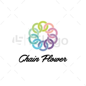 chain flower logo template