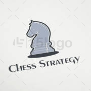 chess strategy logo design