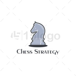chess strategy logo design
