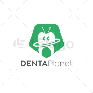 denta planet creative logo