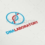 dna laboratory logo design