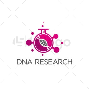 dna research logo template