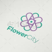 flower city logo design