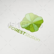 forest station logo template