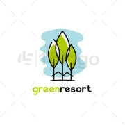 green resort logo design
