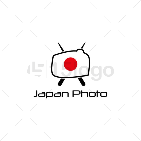 japan photo creative logo
