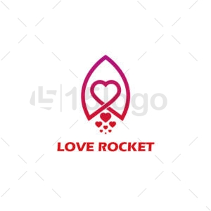 love rocket logo design