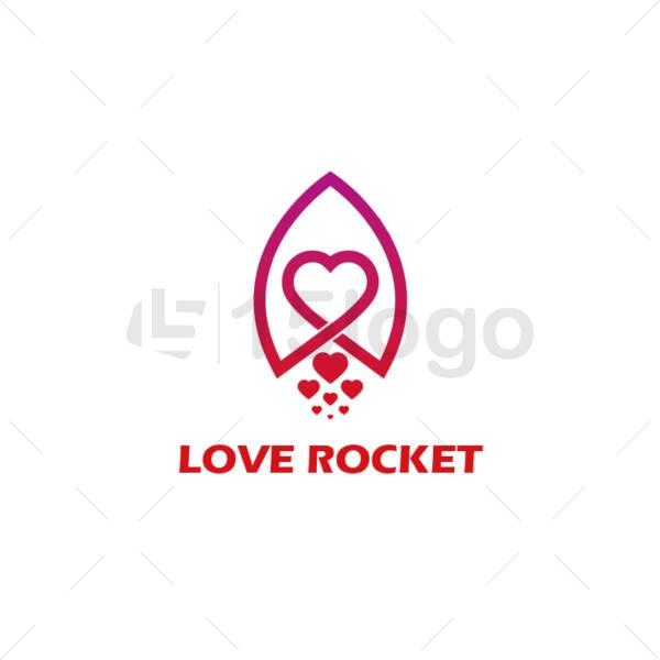 love rocket logo design