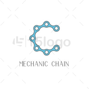 mechanic chain creative logo