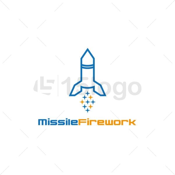 missile firework logo design