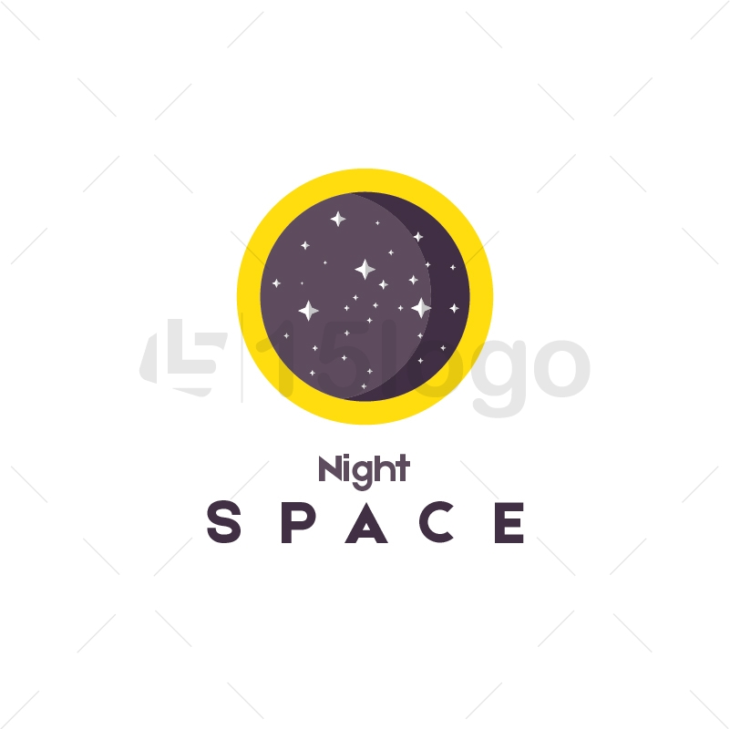 Night Space Logo Template