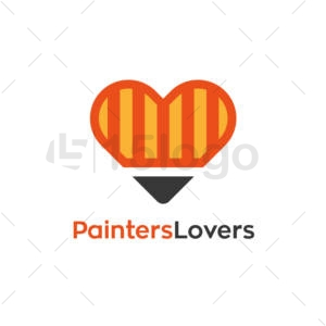 painters lovers creative logo