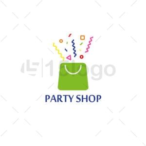 party shop logo template
