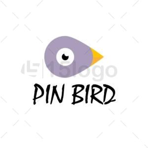 pin bird logo design