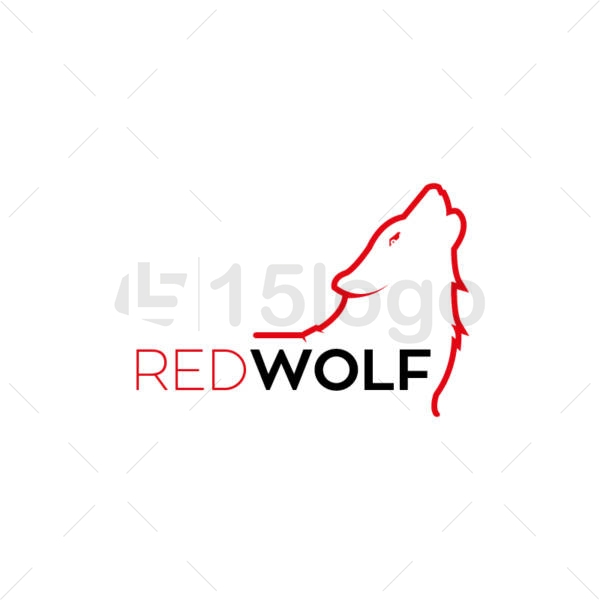 red wolf logo design
