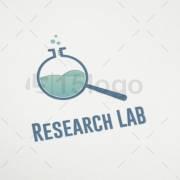 research lab logo design