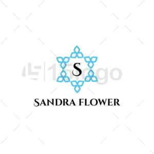 sandra flower logo design