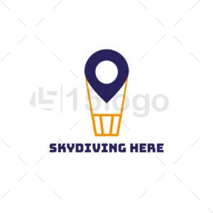 skydiving here creative -logo
