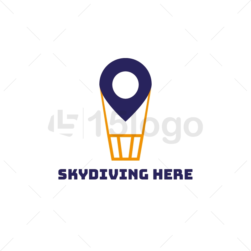 Skydiving Here Creative Logo