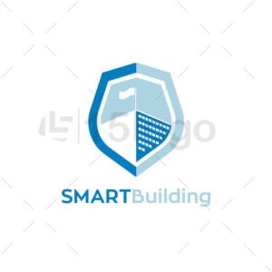 smart building logo design