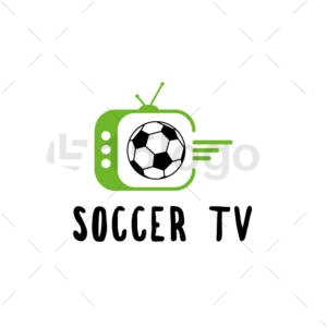 soccer tv logo design