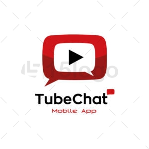 chat tube creative logo