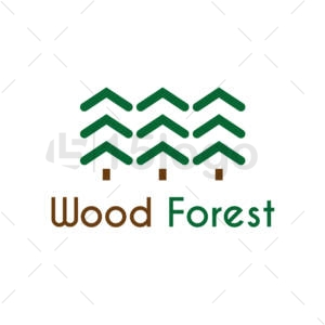 wood forest logo design