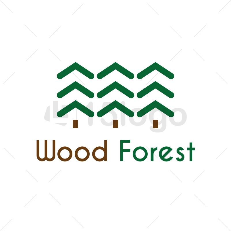 Wood Forest Logo Design
