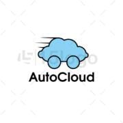 nube de auto plantilla logotipo