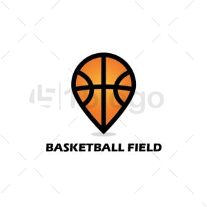 basketball field online creative logo