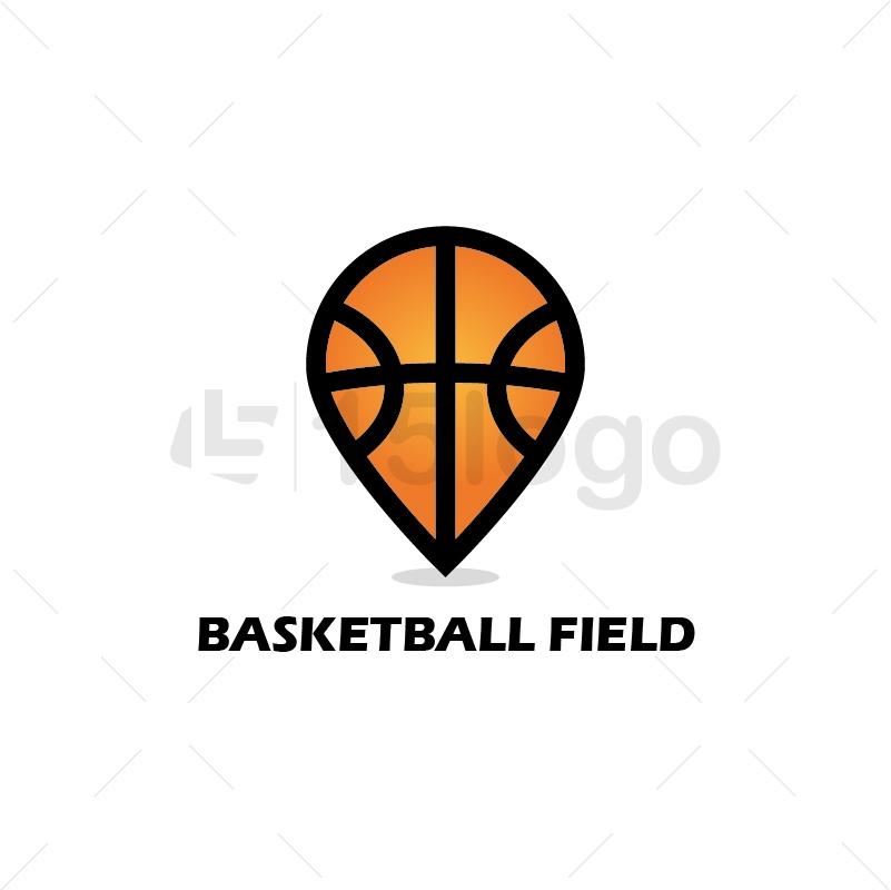Basketball Field Creative Logo