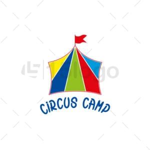 circus camp online creative logo