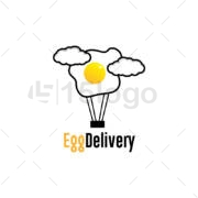 egg delivery shop logo design