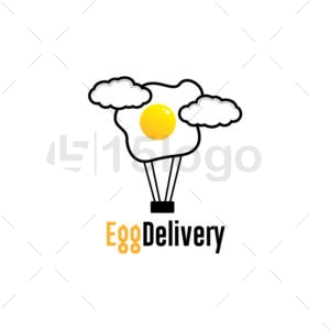 egg delivery shop logo design