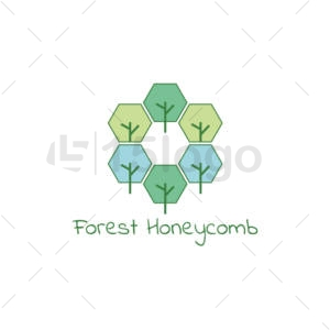 forest honeycomb online logo design